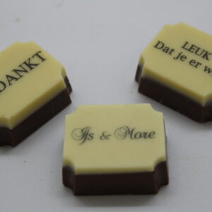 Bonbons en Chocolade met print/relatiegeschenk
